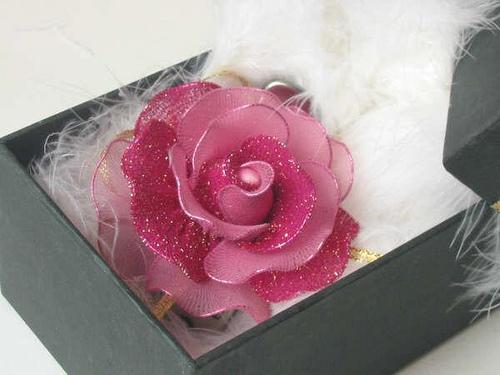 Pantyhose Rose Brooch