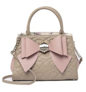 Betsey Johnson Lotta Loops Quilted Satchel